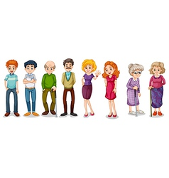 A group of adults vector image