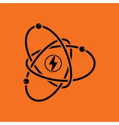 Atom energy icon vector