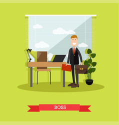 boss concept in flat style vector image vector image