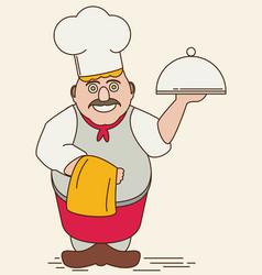 Cartoon chef flat vector
