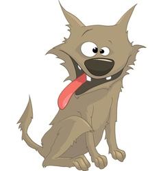 carzy dog cartoon vector image vector image