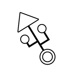 Computer circuit arrow electronic component linear vector