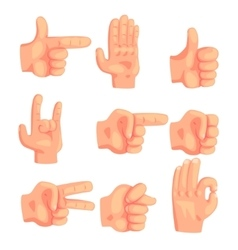 Conceptual Popular Hand Gestures Set Of Realistic vector image vector image