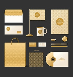 Corporate identity template Logo and design vector image vector image