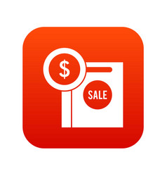 dollar sign and shopping bag for sale icon digital vector image