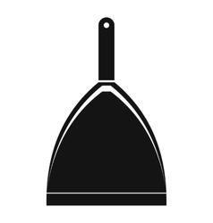 Dustpan black simple icon vector image vector image