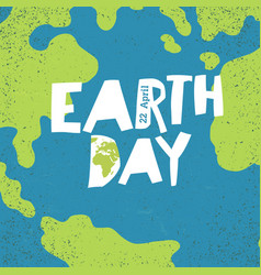 earth day concept creative design poster for vector image vector image