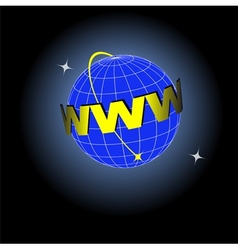 Earth Web vector image