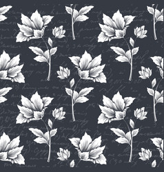 flower seamless pattern element with vector image vector image