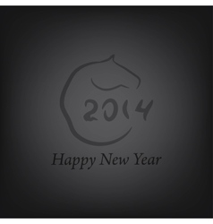 Horse 2014 year chinese vector image