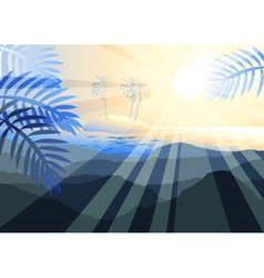 Islands with Palm Trees vector image