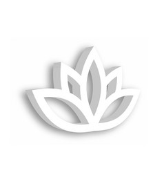 Lotus flower 3d icon on white background wellness vector