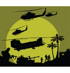 military operation vector image vector image