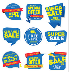 Modern sale stickers and tags colorful collection vector
