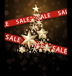 Sale background with christmas tree vector