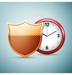 Saving time icon isolated on blue background vector