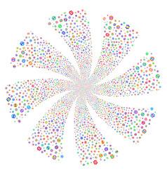Service tools fireworks swirl flower vector