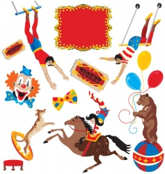 under the big top vector image vector image