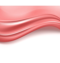 wavy pink silky background vector image