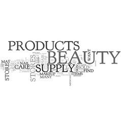 What beauty products you may find in a beauty vector