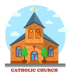 Religion catholic or christian church facade vector