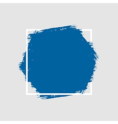 Grunge hand painted brush stroke hexagon vector image
