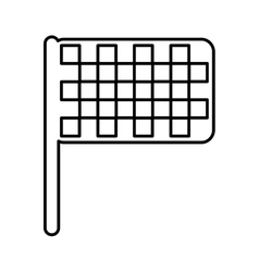 Finish flag location icon vector