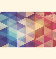 flat retro color geometric triangle wallpaper vector image