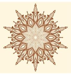 Mandala beautiful hand-drawn flower vector