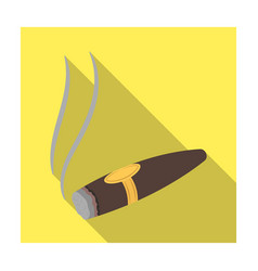 A tattered cigar with smoke a sign of authority vector
