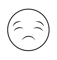 Comic face emoticon isolated icon vector