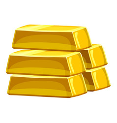 stack of gold bars icon cartoon style vector image