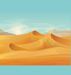 Outdoor panorama on desert landscape vector