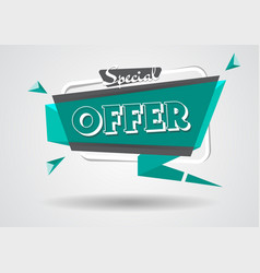 Sale banner special offer sign shopping discount vector