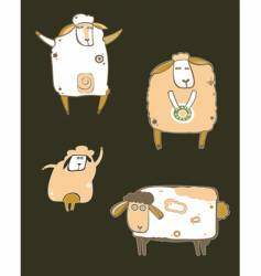 Coffee sheep vector