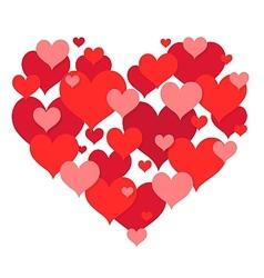 St Valentines heart shape design vector image