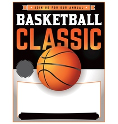 Basketball Classic Flyer vector image