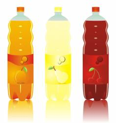 Drink bottles vector