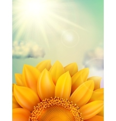 Sunflower with clouds eps 10 vector