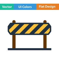Flat design icon of construction fence vector
