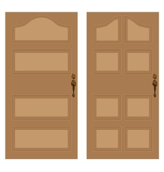 Wooden door on a white background wooden texture vector