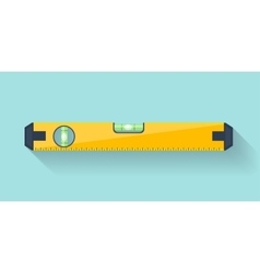 Bubble level tool in a flat style ruler building vector