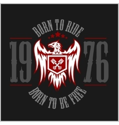 American eagle motorcycle club emblem vector