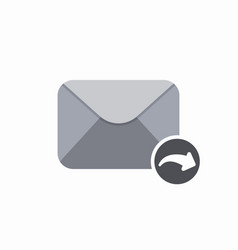 arrow email mail reply icon vector image