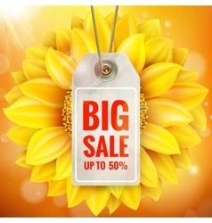 Autumn seasonal sale label EPS 10 vector image vector image