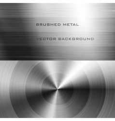 Brushed metal vector image vector image