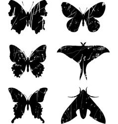 Butterfly grunge set 15 vector