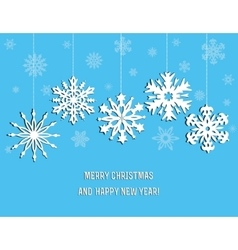 Christmas decoration from white snowflakes vector image vector image