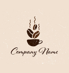Coffee shop logo template natural abstract coffee vector