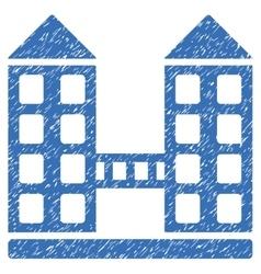 Company building grainy texture icon vector